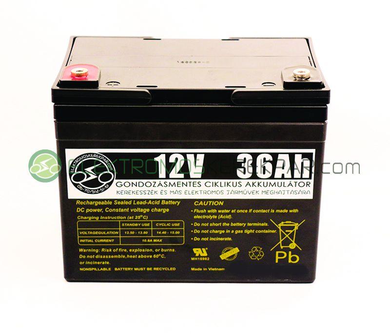 12V 36Ah elektromos kerekesszék akkumulátor