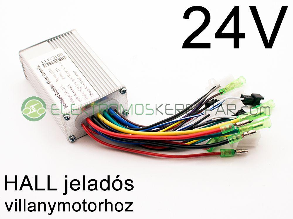 Elektromos kerékpár Vezérlő 24V 250W (HALL)
