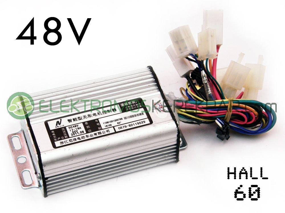 Elektromos kerékpár Vezérlő 48V 350W (H.60)