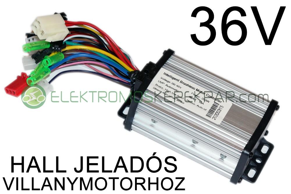 Elektromos kerékpár Vezérlő 36V 350W (HALL)
