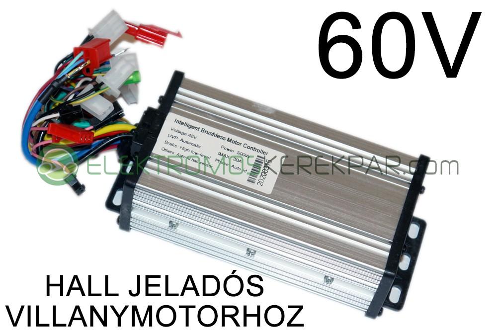 Elektromos kerékpár Vezérlő 60V 500W (HALL)