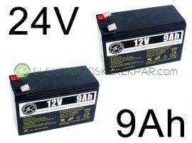 Elektromos kerékpár akkumulátor 6-dzm-9 12V 9Ah (CK175164) -  06705125161