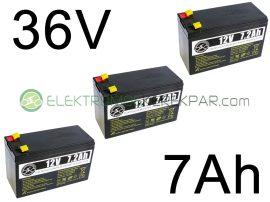 Elektromos kerékpár akkumulátor 6-dzm-7 12V 7Ah (CK329559) -  06705125161