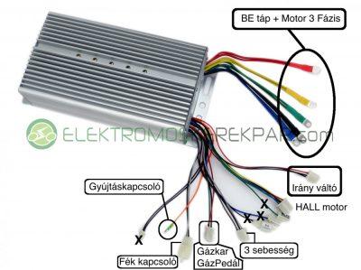 Elektromos csatlakoztatási rajz