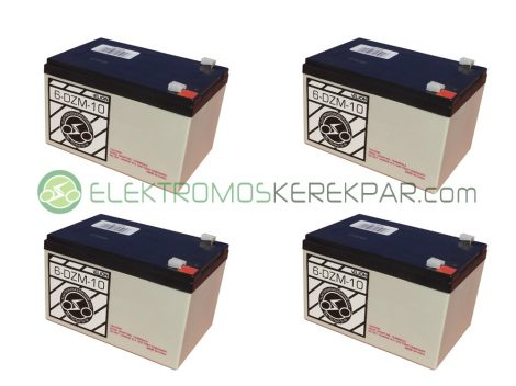 Elektromos kerékpár akkumulátor 6-dzm-10 12V 12Ah akció (CK589702) - 06705125161