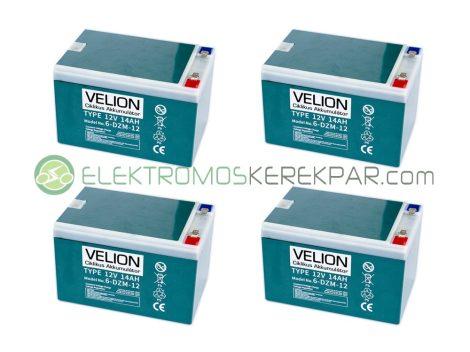 Elektromos kerékpár akkumulátor 6-dzm-12 12V 14Ah (CK731533) - 06705125161