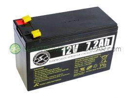 12V 7Ah akkumulátor elektromos kerépárhoz