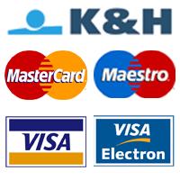 Online Bankártyás fizetés a KnH bank online fizetési oldalán.