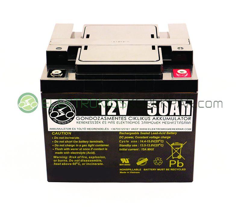 Image of 12V 50Ah elektromos kerekesszék akkumulátor